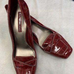 Bandolino 'Bdvenga' Women's Red Croc SZ 7.5M